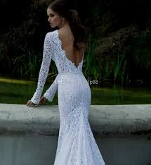 lace mermaid wedding dress lace mermaid wedding dress open back with sleeves dresses