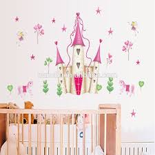 stickers fille chambre amovible princesse château fille chambre tour sticker mural
