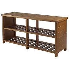 Storage Hallway Bench by Keystone 2 Shelf Shoe Storage Bench Teak Benches Best Buy Canada