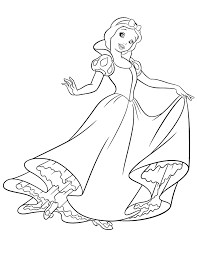 snow white coloring pages getcoloringpages