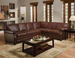 Livingroom Sofas Decor Brown Leather Sectional Sofa With Metal Legs And Storage