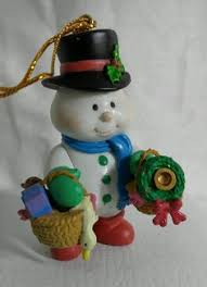 walmart mistletoe magic snowmen ornament in box