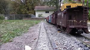 g scale train cab ride around the garden railroad 10 26 13 youtube