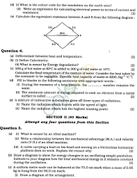 Icse Class X Exam Question Papers 2011 Physics Science Paper 1