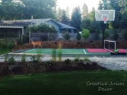 Backyard Sports Court by Creative Juices Decor Update On Backyard Home Sports Court