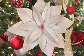 handmade christmas diy christmas tree poinsettias pictured tutorial