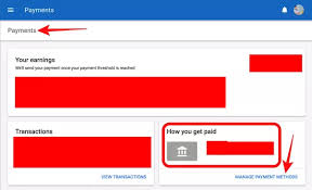 how can we add my account number on earn for quora