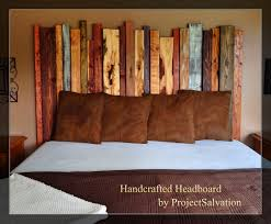 reclaimed wood king size headboard by projectsalvation on etsy