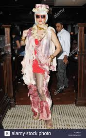 lady gaga halloween costume lady gaga meat dress stock photos u0026 lady gaga meat dress stock