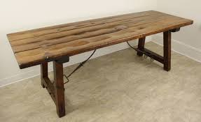 antique spanish refectory table original irons for sale at 1stdibs