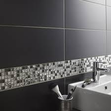 carrelage mural de cuisine leroy merlin faïence mur noir noir n 0 loft l 20 x l 50 2 cm leroy merlin