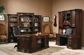 Walnut Home Office Desk Walnut Burl Executive Home Office Desk Set By Hekman Home