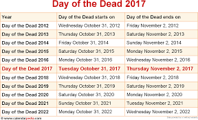 when is us thanksgiving when is day of the dead 2017 u0026 2018 dates of day of the dead