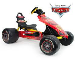 lighting mcqueen pedal car injusa lightning mcqueen go kart pedal go karts ride ons