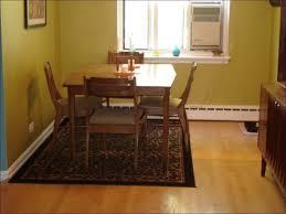 dining room wonderful rug under kitchen table kids half moon