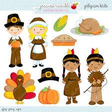 pilgrim digital clipart commercial use ok