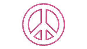peace sign machine embroidery design daily embroidery