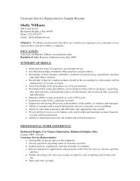 customer service representative resume sample pdf stylish design