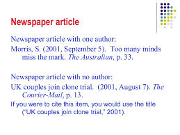 apa format online article no author apa a best ideas of apa format for newspaper article online with no