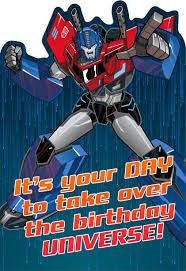transformers birthday transformers optimus prime epic birthday card greeting cards