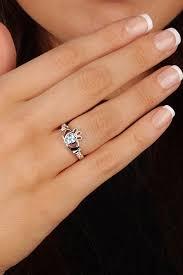 birthstone rings for birthstone silver claddagh ring ls sl90 3