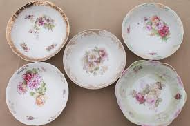 antique painted china bowls collection of early 1900s vintage