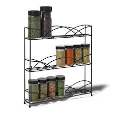Wall Mount Spice Rack With Jars Amazon Com Spectrum Diversified Countertop 3 Tier Spice Rack