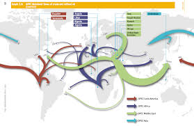 map shows movement of opec s trade around the world business