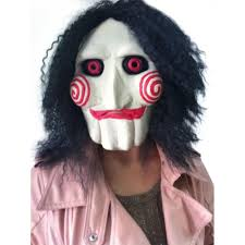 aliexpress com buy latex creepy full mask scary prop movie chain