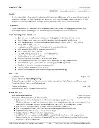 Database Developer Sample Resume by Mobile Web Developer Cover Letter
