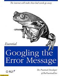Meme Orly - googling the error message essential book orly starecat com