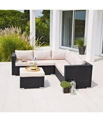 Patio Table And Chair Sets Buy Rattan Effect 5 Seat Patio Furniture Sofa Set With Cushions At