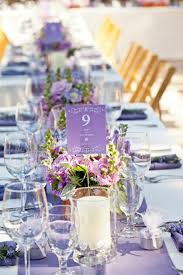stunning wedding centerpiece ideas with chic purple hue weddbook