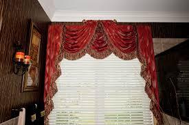 raised center swags and cascades window treatment i drapery 8