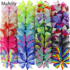 3 grosgrain ribbon myamy 40pcs lot 3 grosgrain ribbon boutique hair bows with