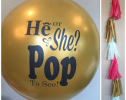 gender reveal balloon in gold gender reveal party balloon