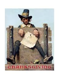 thanksgiving ye glutton or pilgrim in stockade giclee print by