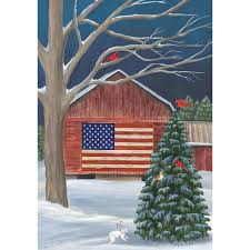 winter flag barn garden flag american garden flags uk olde glory