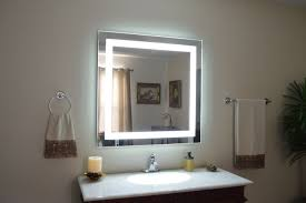 Lit Bathroom Mirror Ideas Lighted Bathroom Wall Mirror Home Romances