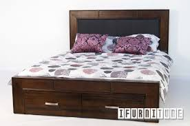 richmond tasmania oak queen size bed with storage box bedroom
