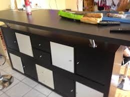 faire cuisine ikea meuble bar separation cuisine awesome salon 1 table de avec kallax