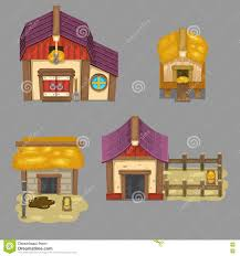 Design Your Own House Game by Set Of Rural Buildings Create Your Own Cartoon Farm Game Assets
