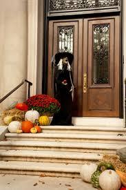 exterior design double dark door with halloween front door