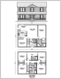 Small Floor Plans by 2 Story Small House Plans Part 24 Small 2 Story Cottage Plans