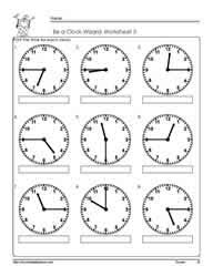 time to the hour worksheets free worksheets library download and