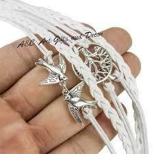 white leather bracelet images Hope longevity and infinity white leather bracelet a c gifts jpg