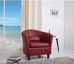 livingroom chairs contemporary club chair red wine modern wood durable living room