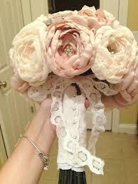 diy bouquet my diy fabric brooch bouquet weddingbee photo gallery