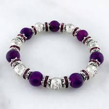 bracelet stone images Semi precious stone bracelet purple she anna bella jpg