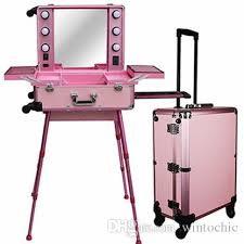 makeup luggage with lights 2018 pro rolling studio makeup artist train case with lights